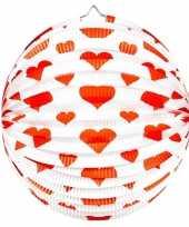 Goedkope x stuks bol lampionnen rond rode hartjes 10121615