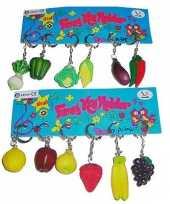 Goedkope x stuks groente fruit sleutelhanger