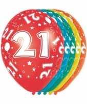 Goedkope x stuks jaar thema versiering heliumballonnen 10130742