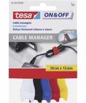 Goedkope x tesa klittenband kabels cable manager gekleurd