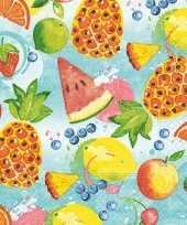 Goedkope x tropisch fruit zomer thema servetten 10142341