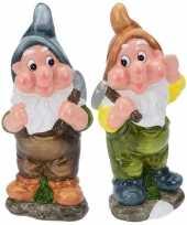 Goedkope x tuinkabouters mijnwerkers blauw bruin