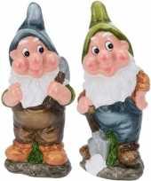 Goedkope x tuinkabouters mijnwerkers blauw groen