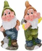 Goedkope x tuinkabouters mijnwerkers groen bruin