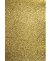 Goedkope x vellen glitterend goud hobby karton a