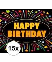 Goedkope x verjaardag wenskaart happy birthday 10109265