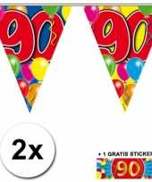 Goedkope x vlaggenlijn jaar gratis sticker 10059950