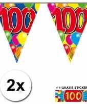 Goedkope x vlaggenlijn jaar gratis sticker 10059952