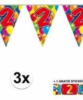 Goedkope x vlaggenlijn jaar gratis sticker 10092908