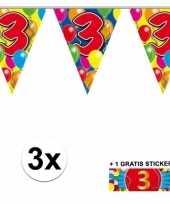Goedkope x vlaggenlijn jaar gratis sticker 10092909