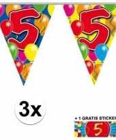 Goedkope x vlaggenlijn jaar gratis sticker 10092911