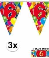Goedkope x vlaggenlijn jaar gratis sticker 10092913