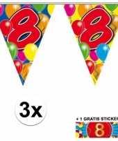 Goedkope x vlaggenlijn jaar gratis sticker 10092918