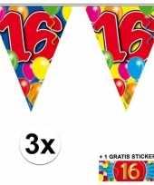 Goedkope x vlaggenlijn jaar gratis sticker 10092921