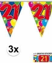 Goedkope x vlaggenlijn jaar gratis sticker 10092922