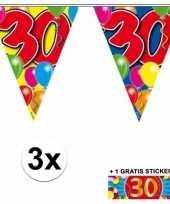 Goedkope x vlaggenlijn jaar gratis sticker 10092926