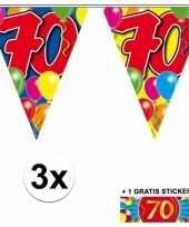 Goedkope x vlaggenlijn jaar gratis sticker 10092932