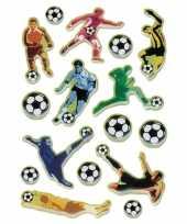 Goedkope x voetbal stickers d effect zacht kunststof