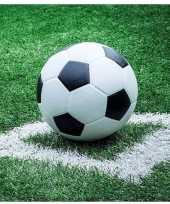 Goedkope x voetbal thema servetten 10140738