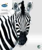 Goedkope x zebra dieren thema servetten zwart wit 10145322