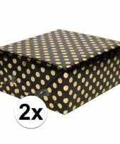 Goedkope x zwart folie inpakpapier cadeaupapier gouden stip