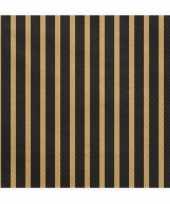 Goedkope x zwart gouden servetten
