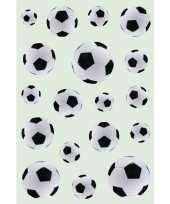 Goedkope x zwart witte voetballen stickers 10139570