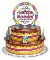 Goedkope xxl d taart kaart liefste moeder