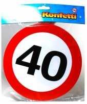Goedkope xxl leeftijd confetti jaar verkeersbord 10059914