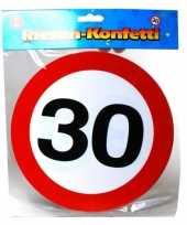 Goedkope xxl leeftijd confetti jaar verkeersbord 10059958