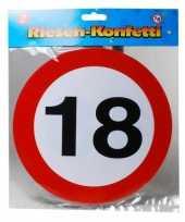 Goedkope xxl leeftijd confetti jaar verkeersbord 10059959