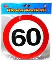 Goedkope xxl leeftijd confetti jaar verkeersbord 10059960