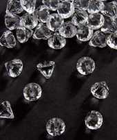 Goedkope zakje gram deco diamantjes transparant mm