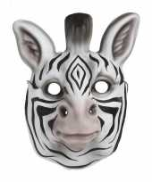 Goedkope zebra verkleed dierenmasker kinderen