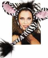 Goedkope zebra verkleed setje