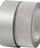 Goedkope zilver glitter tape rollen