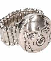 Goedkope zilveren boeddha ring volwassenen