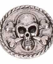 Goedkope zilveren chunk doodshoofd