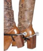 Goedkope zilveren cowboy sporen