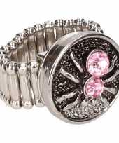 Goedkope zilveren heksen ring roze volwassenen