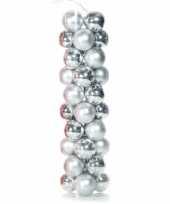 Goedkope zilveren kerstballen plastic