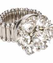 Goedkope zilveren prinsessen ring zilveren bloem volwassenen