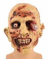Goedkope zombie masker bloedend oog