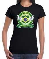 Goedkope zwart brazil drinking team t-shirt dames