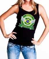 Goedkope zwart brazil drinking team tanktop mouwloos shirt dames
