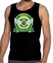 Goedkope zwart brazil drinking team tanktop mouwloos shirt heren
