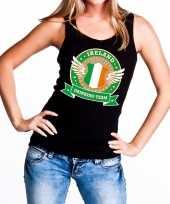 Goedkope zwart ireland drinking team tanktop mouwloos shirt dames
