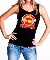 Goedkope zwart spain drinking team tanktop mouwloos shirt dames