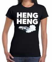 Goedkope zwarte cross heng heng festival t-shirt zwart dames