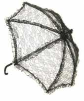 Goedkope zwarte kanten bydemeyer paraplu
